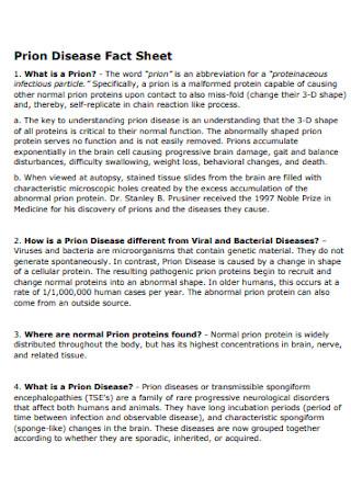 Prion Disease Fact Sheet