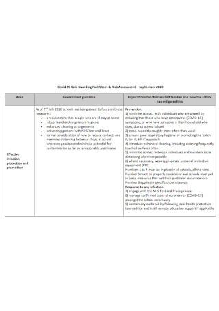 Safe Guarding Fact Sheet