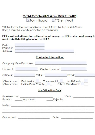 Stam Wall Survey Form