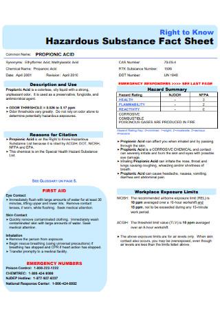 Substance Fact Sheet