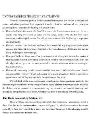 Understanding Financial Statement Template