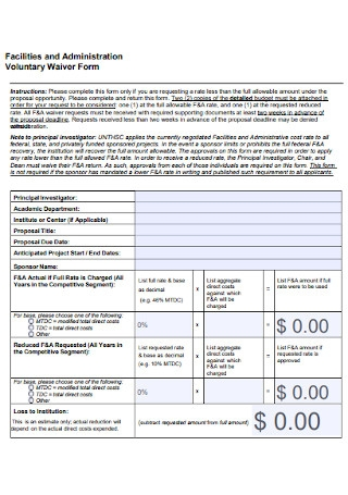 Voluntary Waiver Form