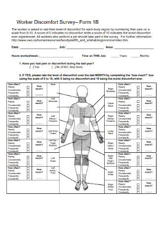 Worker Discomfort Survey Form