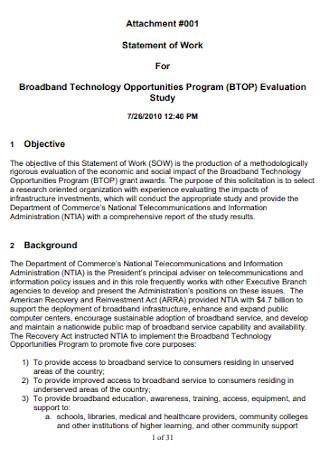 Broadband Work Statement Template