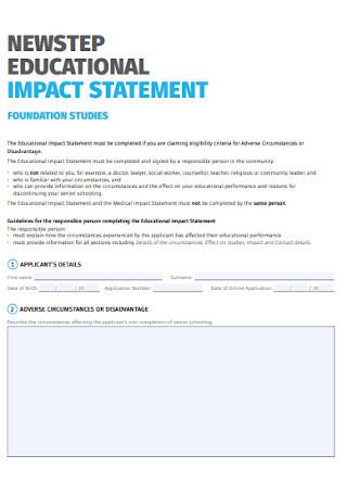 Educational Impact Statement