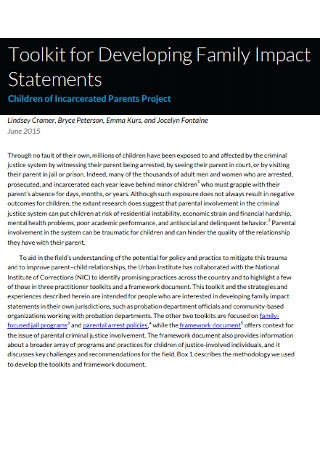 Family Impact Statements