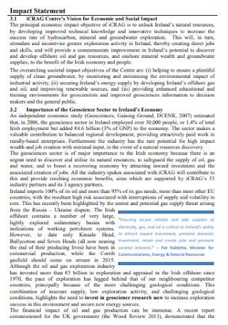 Programme Impact Statement