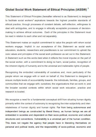 Social Work Statement