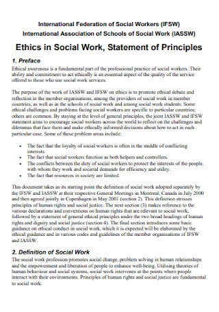 Social Work Statement Template