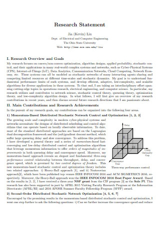 Basic Research Statement Template