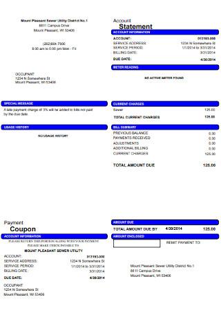 Billing Account Statement