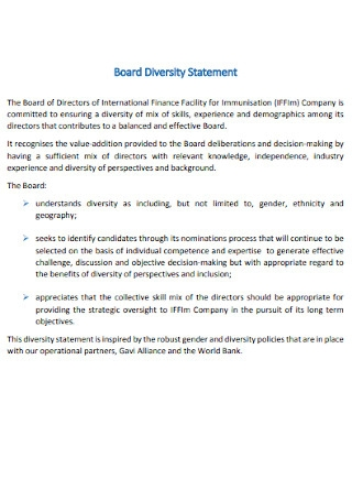 Board Diversity Statement