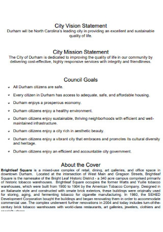 City Vision Statement
