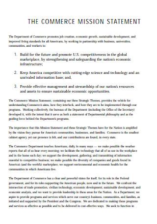 Commerce Mission Statement