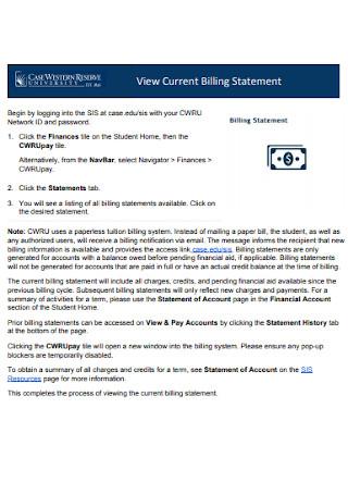 Current Billing Statement