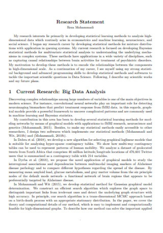 Data Research Statement