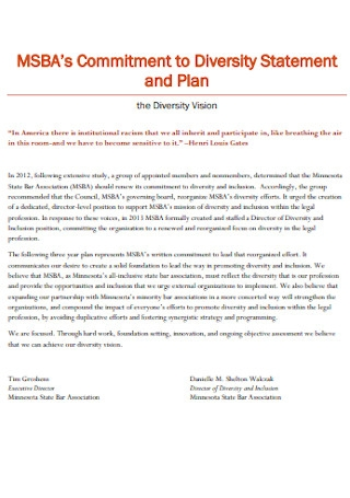 Diversity Statement and Plan Template