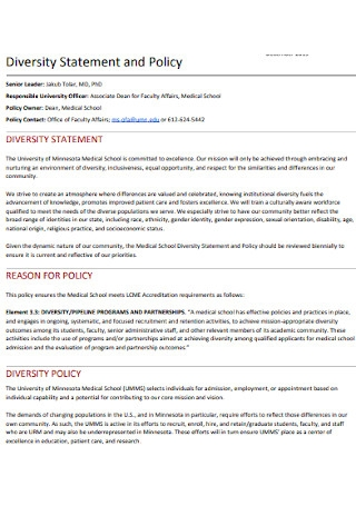 Diversity Statement and Policy Template