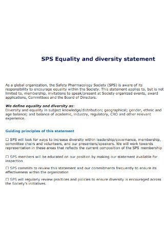 Equality andDdiversity Statement Template