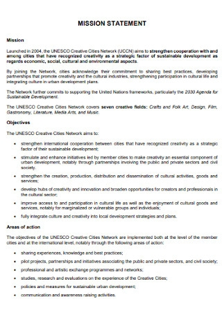Formal Mission Statement Template