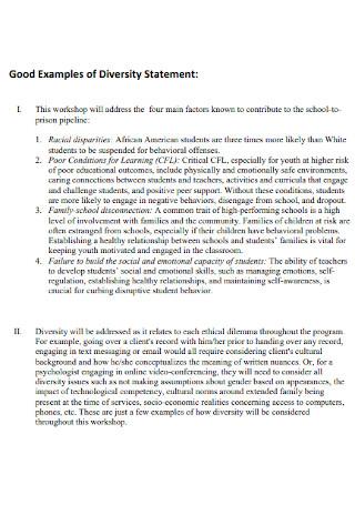 Good Examples of Diversity Statement