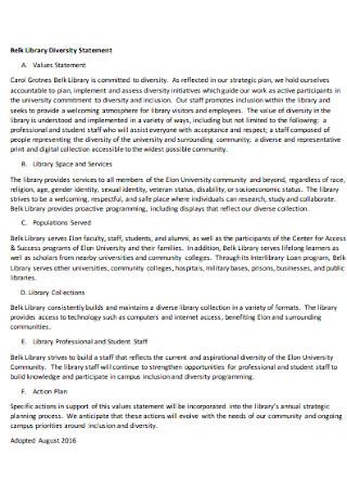 Library Diversity Statement