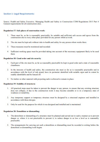 Management and Method Statement Template