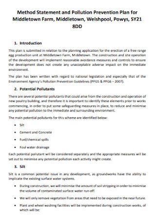Method Statement Plan Template