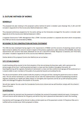 Methods of Work Statement