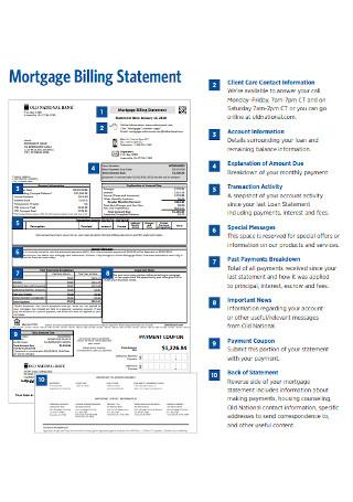 Mortage Billing Statement