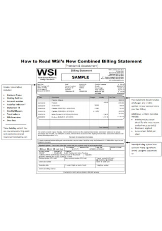 New Combined Billing Statement