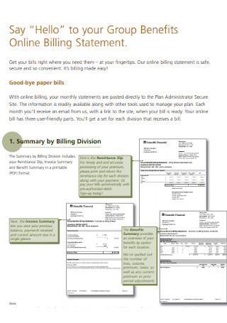 Online Billing Statement