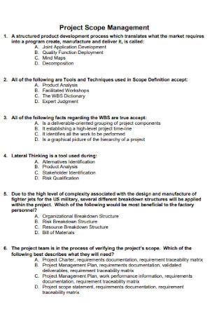 Project Management Scope Statement