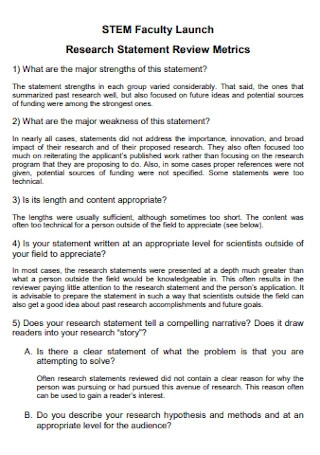 Research Statement for Faculty Template