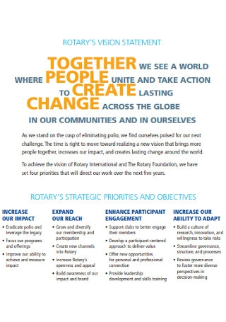 Rotarys Vision Statement