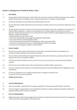 Safety Plan and Method Statement