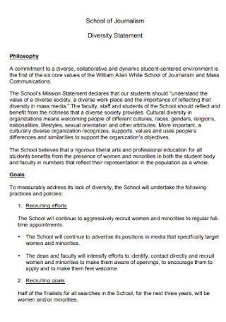 School of Diversity Statement