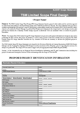 Scope Final Design Statement