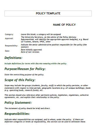 Scope Policy Statement