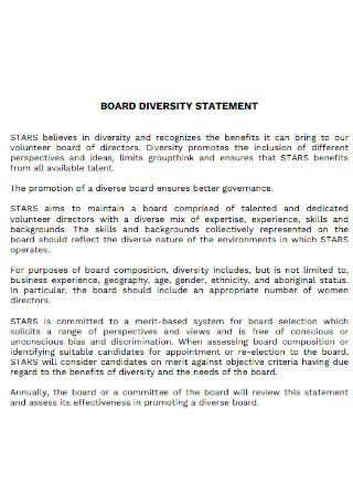 Simple Board Diversity Statement