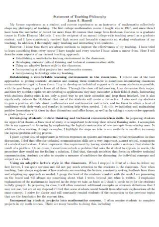 Statement of Teaching Philosophy Format