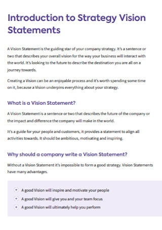 Strategy Vision Statements