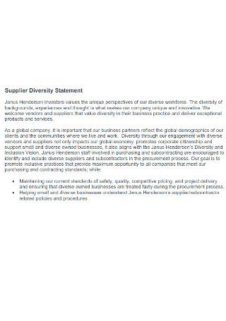 Supplier Diversity Statement