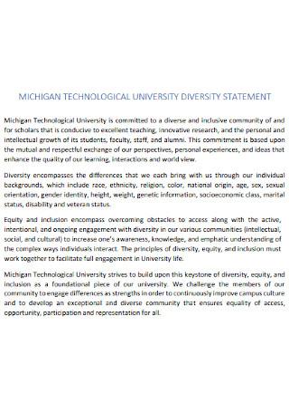 University Diversity Statement