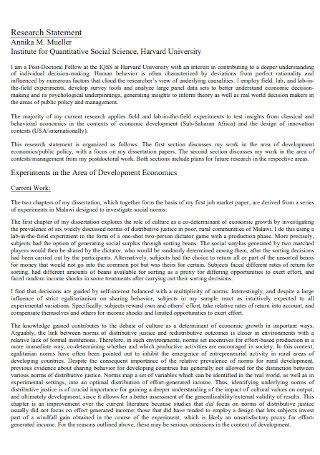 University Research Statement