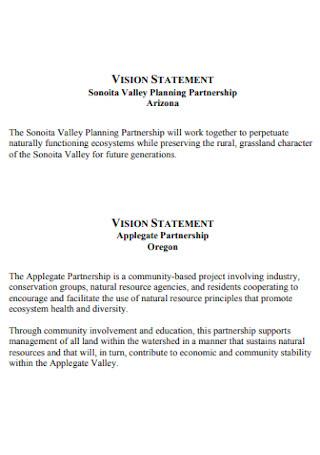Vision Planning Statement