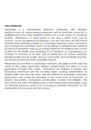 Vision Statement Format