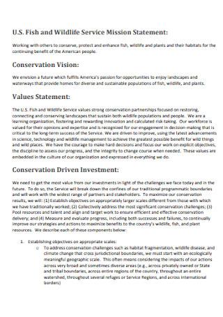 Wildlife Service Mission Statement