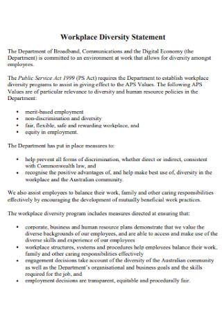 Workplace Diversity Statement