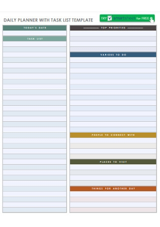 Daily Planner with Task List